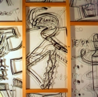 1991 Nouméa detail Anne-Marie Pécheur Artiste Peinture et Lumière