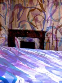 Violettes 2009 Anne-Marie Pécheur Artiste Peinture et Lumière 09V