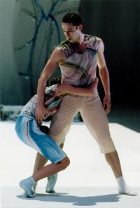 Yamm 2000 Anne-Marie Pécheur Artiste Peinture et lumière deux-danseurs-premiers