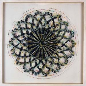 Anne-Marie Pécheur Artiste Peinture et Lumière Cercle Oeil Fleur 2004-527