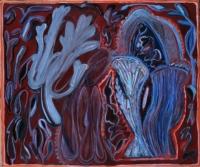 Anne-Marie Pécheur Artiste Peinture et Lumière Figures en dentelles Bouturage 501-2002